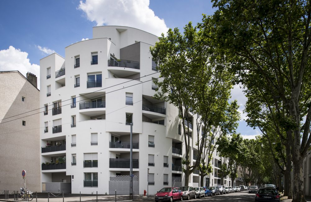 Projet immobilier neuf Le Contemporain vue angle rue
