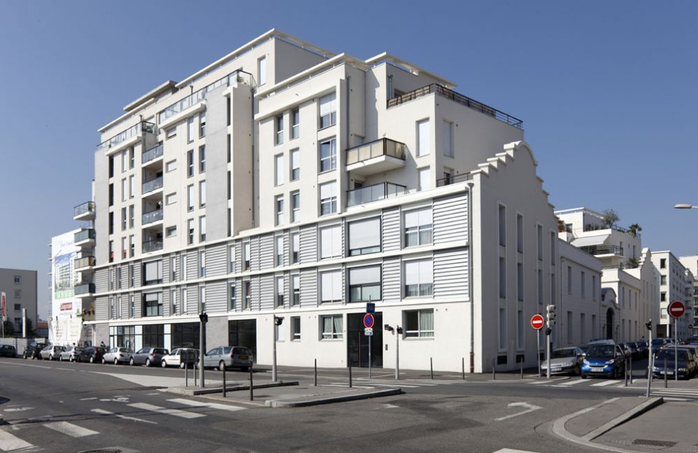 Projet immobilier neuf Esprit Rive Gauche vue angle rue