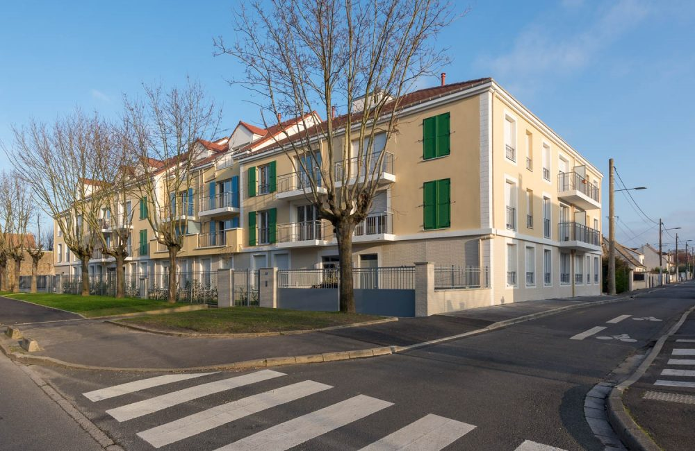 Projet immobilier neuf Le Clos Vaillant vue angle rues