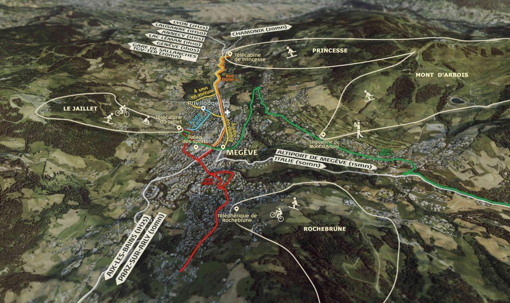 programme immobilier PRIVILODGE, Megève Demi-quartier - Plan route